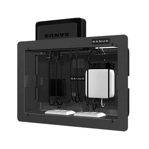 Large Recessed Wall Box; Holds up to six components