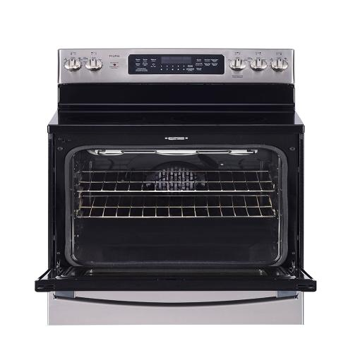 "GE Profile 30"" Freestanding Self-Cleaning Electric Range with Convection Stainless Steel - PCB905YPFS"