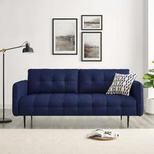 Cameron Tufted Fabric Sofa in Royal Blue