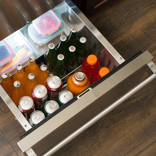 Gallery - 24-In Professional Built-In Refrigerated Drawers With Adjustable Dividers with Door Style - Stainless Steel