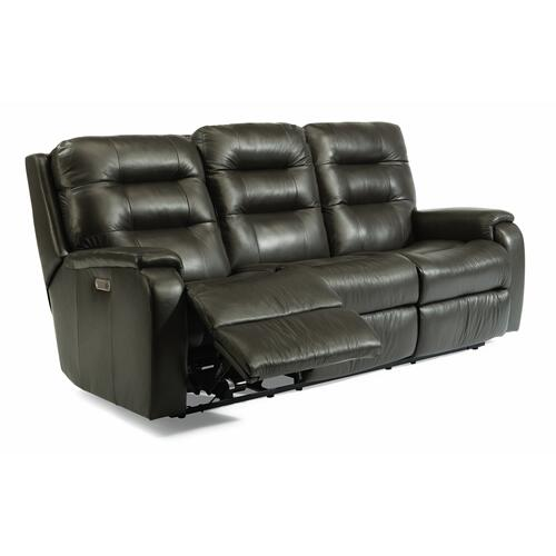 Flexsteel - Arlo Power Reclining Sofa with Power Headrests and Lumbar