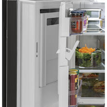 GE 26.7 Cu.Ft, French Door Refrigerator Black- GNE27JGMBB