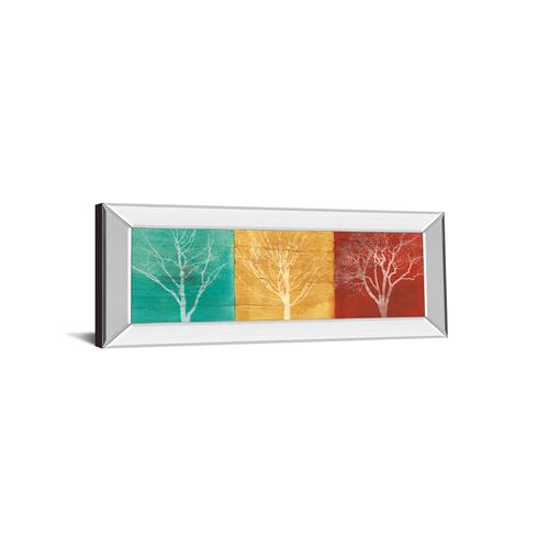 "Classy Art - ""Fallen Leaves"" By Stephane Fontaine Mirror Framed Print Wall Art"