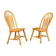 Comfort Back Dining Chair - Light Oak (Set of 2)