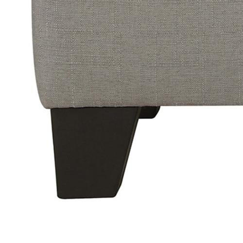 Sarah Rectangular Storage Ottoman in Light Grey