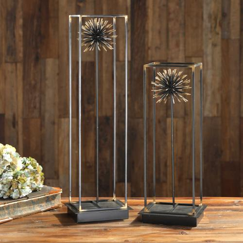 Flowering Dandelions Sculpture, S/2
