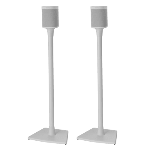White- Sanus Floor Stand (Pair)