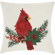 "Home for the Holiday Yx021 Multicolor 18"" X 18"" Throw Pillow"