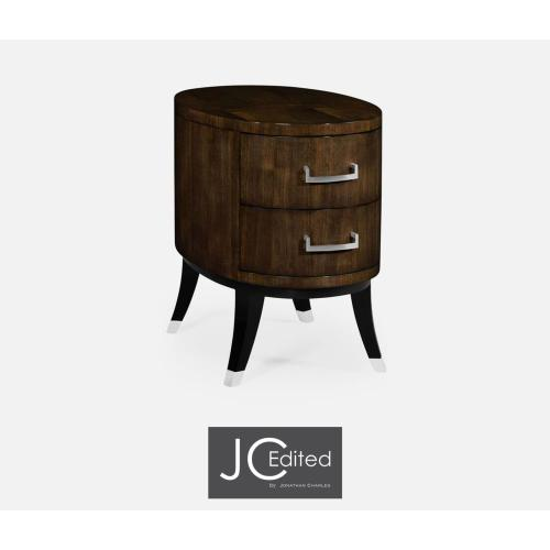 Oval Chest of Drawers in American Walnut