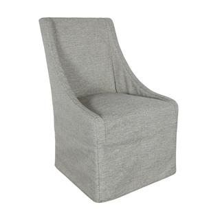 See Details - Warwick Upholstered Rolling Dining Chair Granite