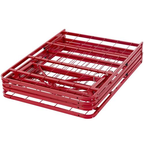 Modway - Horizon Queen Stainless Steel Bed Frame in Red