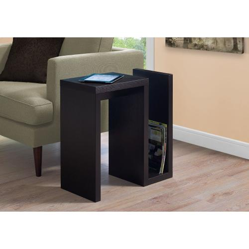"ACCENT TABLE - 24""H / ESPRESSO"