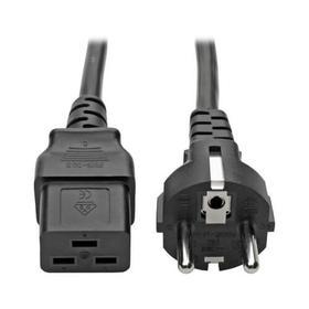 EU Computer Power Cord , C19 to Schuko - 16A, 250V, 16 AWG, 8 ft. (2.4 m), Black