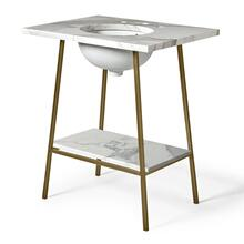 "Rowan Single Washstand 26"" x 20 3/4"" x 33 1/2"" in Patina Brass"