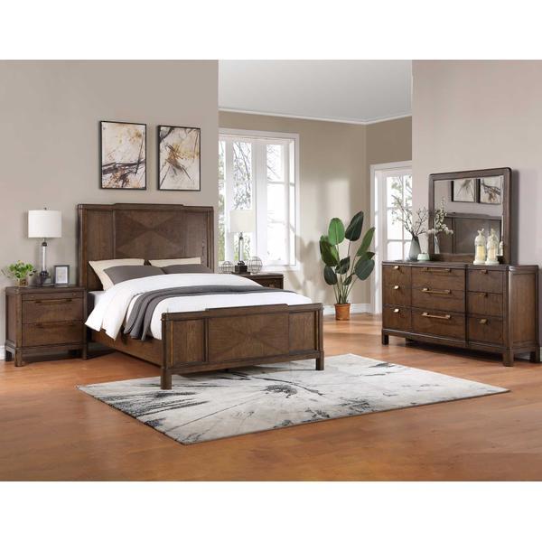 See Details - Milan 4-Piece Queen Bedroom Set (Queen Bed, Nightstand, Dresser/Mirror)