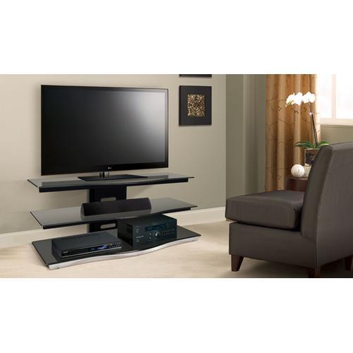Product Image - Black Finish Flat Panel Audio/Video Furniture