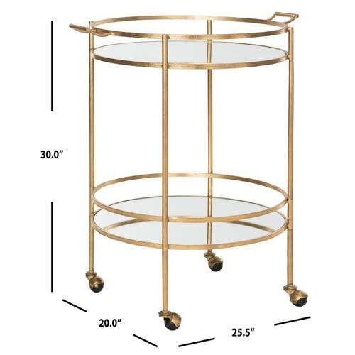 Product Image - Lavinia Bar Cart - Gold