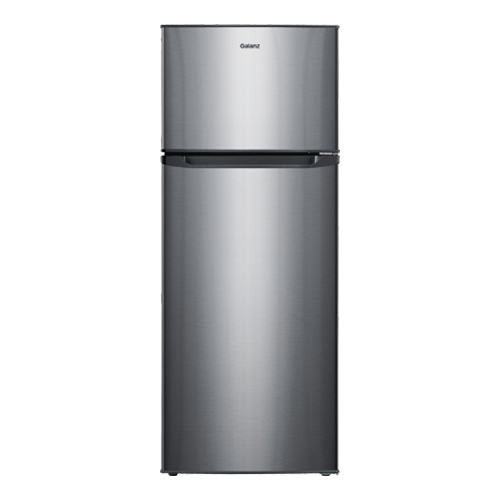 Galanz 7.6 Cu Ft Top Mount Refrigerator in Stainless Steel Look