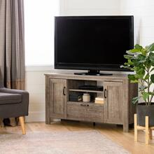 Corner TV Stand, for TVs up to 48'' - Weathered Oak