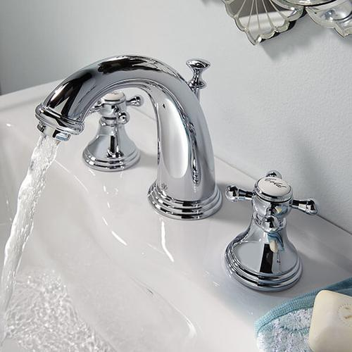 Dxv - Ashbee Widespread Bathroom Faucet with Cross Handles - Polished Chrome