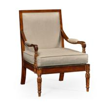 Regency walnut occasional armchair