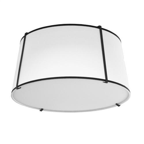 3lt Trapezoid Flush-mount Black White Shade W/diff