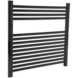 "Denby Towel Warmer 27"" x 30"" Hardwired Matte Black Product Image"