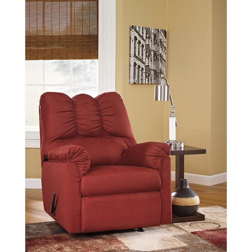 Signature Design by Ashley Darcy Rocker Recliner in Salsa Microfiber [FSD-1109REC-RED-GG]