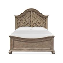 Complete Queen Shaped Panel Bed