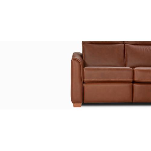 Leonardo Sofa with half arm (041-071-042; Wood legs - Cognac C33)