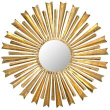 Golden Arrows Sunburst Mirror - Antique Gold