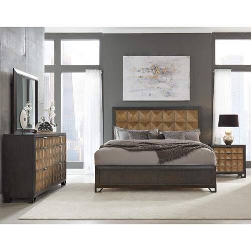 Hudson King / California King Bed Headboard in Gold and Black
