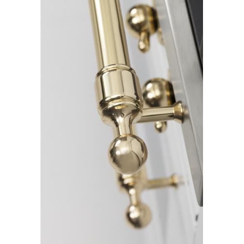 Nostalgie 30 Inch Gas Natural Gas Freestanding Range in White with Brass Trim
