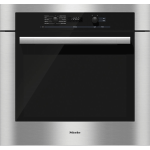 MieleH 6180 BP - 30 Inch Convection Oven with Self Clean for easy cleaning.
