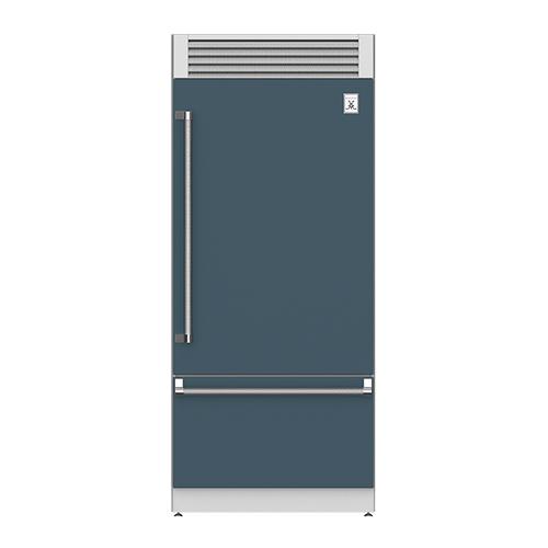 "36"" Pro Style Bottom Mount, Top Compressor Refrigerator - KRP Series - Pacific-fog"