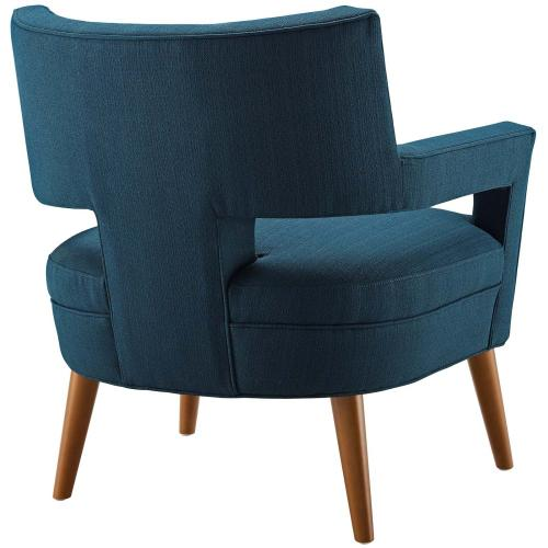 Sheer Upholstered Fabric Armchair Set of 2 in Azure