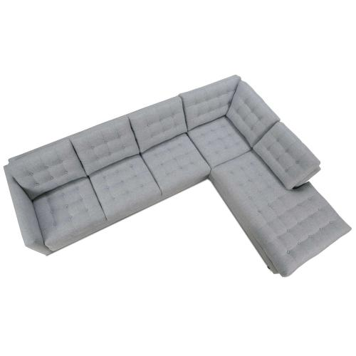 Modern Mix Button Back Sectional Sofa