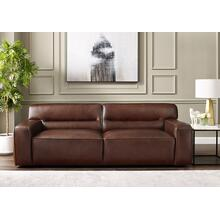 Milan Leather Sofa - Brown