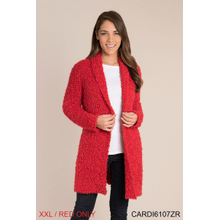 Cozy Up Cardigan - XXL Red (2 pc. ppk.)