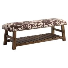 See Details - Mesquite Faux Cowhide Bench
