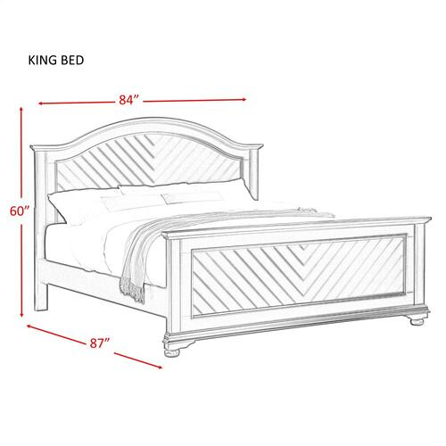 Brookpine White King Panel Bed White
