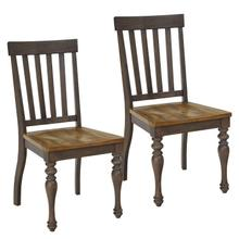 View Product - Dunmore 2-Pack Side Chairs, Light Toffee Seat with Brown Base