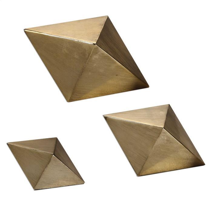 Uttermost - Rhombus Sculptures, S/3