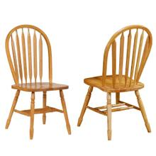 Arrowback Dining Chair - Light Oak (Set of 2)