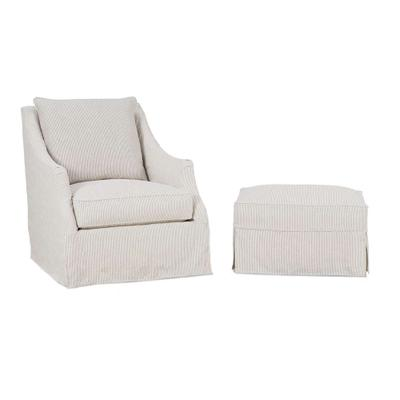 Kate Slipcover Swivel Chair