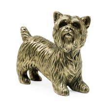 Light Antique Brass Yorkshire Terrier Dog