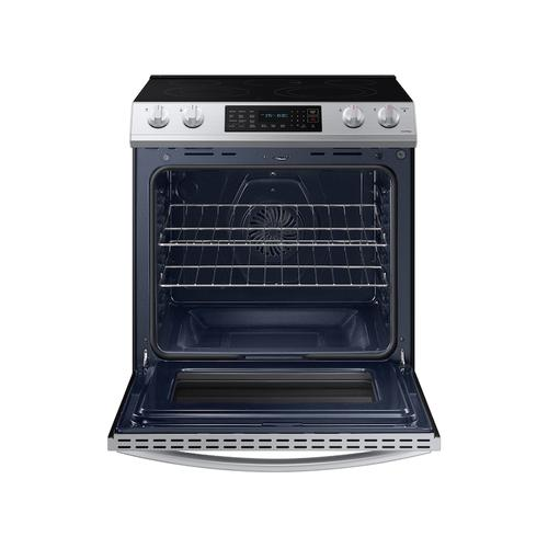 6.3 cu ft. Smart Slide-in Electric Range with Convection in Stainless Steel