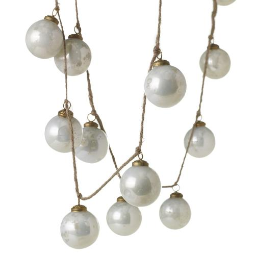 "72"" Milky Ornament Garland"