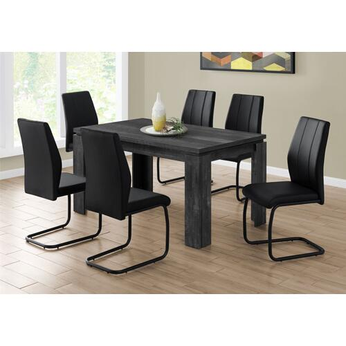 "DINING CHAIR - 2PCS / 39""H / BLACK LEATHER-LOOK / METAL"