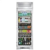 30 Inch Stainless Glass Door Left Hinge Beverage Column